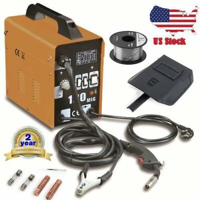MIG-100 Welder Gas Less Flux Core Wire Automatic Feed Welding Machine W/ Mask FG