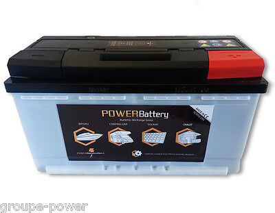 Batterie camping car 12v 130ah decharge lente ideal pour application marine