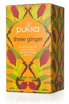 PUKKA HERBS THREE GINGER ORGANIC TEA (20 tea sachets)