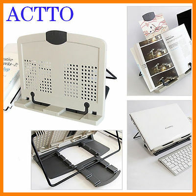 ACTTO Laptop Cooling Book Copy Stand Document Notebook Holder