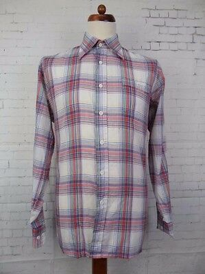 Vintage L-Sleeve Multi Colour Check Polycotton Shirt by Tom Tailor -L/XL- CA61