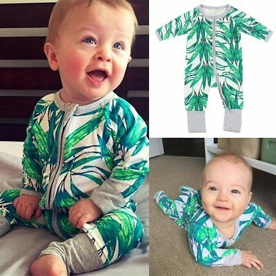 0-36M Lovely Baby Girls Boys Long Sleeve Cotton Romper Bodysuit Outfits Clothes