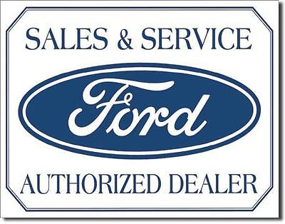 Ford Sales And Service Tin Sign Garage Shed Hotrod Custom