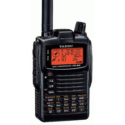 YAESU VX-8DE 3-Band 6m 2m 70cm Barometer Thermometer optional GPS & Bluetooth