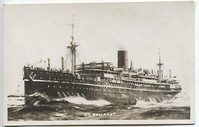 AUSTRALIA  1920s: real photo style card - painting S.S. BALLARAT fine condition