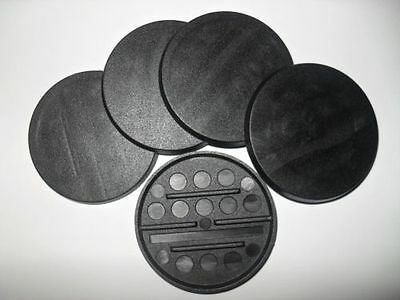 6 (Six) 50mm Round Bases for Wargaming and Roleplaying NEW