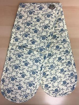 **offer** Double Oven Glove - Vintage / Shabby Chic Style - Cream / Blue Floral