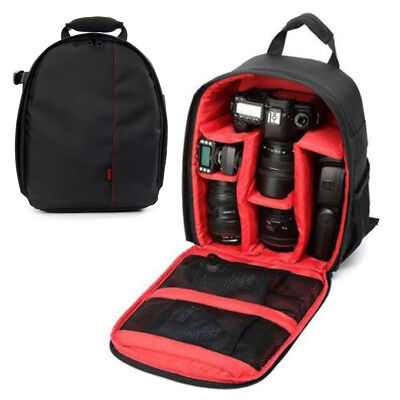 【Ships from CA】YaeTek Camera Backpack Shoulder Bag DSLR Case For Canon , Red