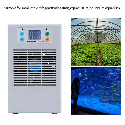 70/100W Fish Tank Shrimp Aquarium Water Cooling Machine Chiller 20/35L+ Pump GL