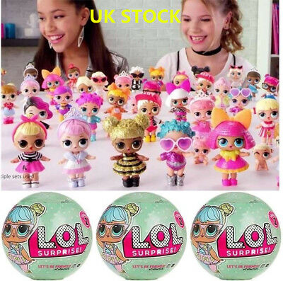 1-8PCS LOL SURPRISE DOLL 1Lil Sisters Ball 7Layers Series Surprise Toy UK Seller