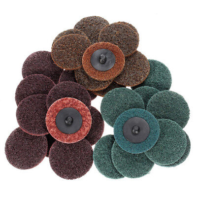 30 x 2''Roloc Sanding Roll Disc Surface Conditioning Fine Coarse Medium Prep Pad