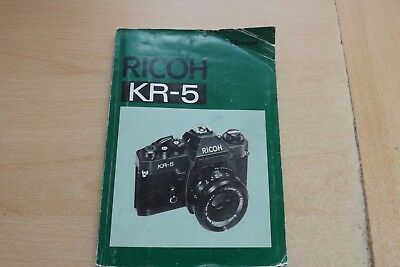 Ricoh Kr-5 Camera  Instructions / Owners  Manual