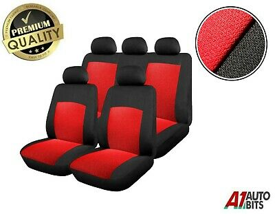 Sporty To Fit Peugeot 106 205 206 207 307 407 Car Seat Covers In Black & Red