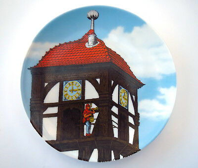 Dietemann Eschwege Collectors Porcelain Wall Plate Altenkunstadt Germany Clock