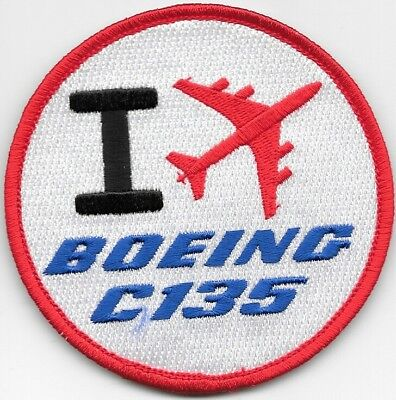 """Patch """" I Love Boeing C-135Fr""""."""