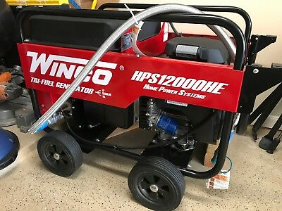 Winco HPS12000HE Tri-Fuel Portable Generator with Honda Engine
