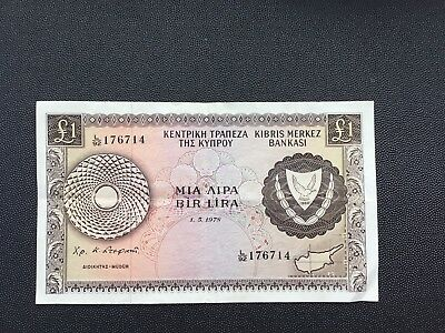 Very fine 1978 Cyprus £1 note.
