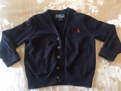 Polo Ralph Lauren Boys Cardigan Age 18-24 Months / 2 Years