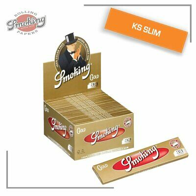 Smoking 1650 CARTINE oro king size slim box da 50 libretti