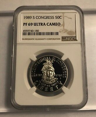 1989 S Congress Half Dollar 50c Commemorative NGC PF 69 Ultra Cameo