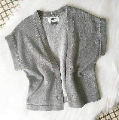 Old Navy Baby Toddler Girl Gray Open Cardigan Size 12-18 Months (runs Big)