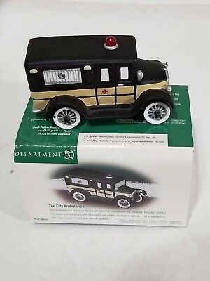 """Dept 56 Christmas In The City """"the City Ambulance"""" - Mib"""