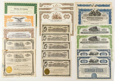 Group of Railroad & Select Stock Certificates   #0340
