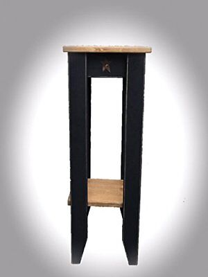 Primitive Rustic Country Small Phone Table - Amish Made in USA - 9 Colors