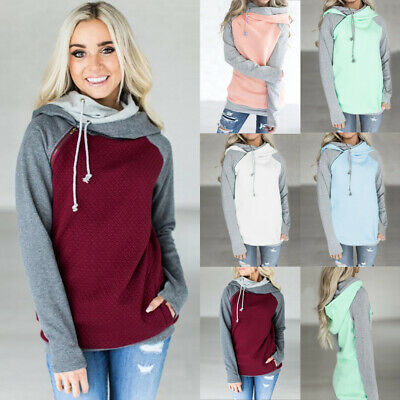 UK Womens Winter Hoodies Sweatshirt Ladies Hooded Sweater Coat Jumper Pullover