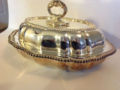 ANTIQUE TIFFANY CO SILVER SOLDERED  EF 10 In R DISH W LID 1894