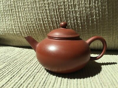Old small chinese teapot with chinese marked