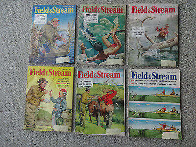 1956 Field And Stream Magazine -  12 Issues