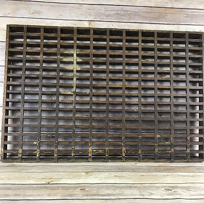 "Antique Wooden Floor Grate Grill Register Wall 24"" x 16"" x 1-1/4"""