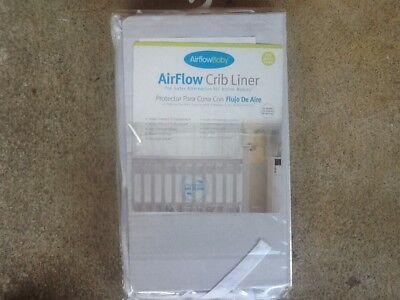 AirFlow Baby Breathable White Mesh Crib liner bumper Nurserybedding NEW!