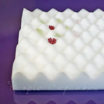 Foam Drying Tray for sugarcraft flowers and decorations Purple Cupcakes
