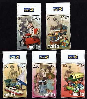 Malta 2007 Toys from Gone By Days Complete Set SG 1545 - 1549 Unmounted Mint
