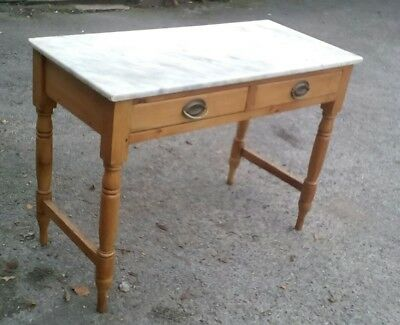 Pine marble top washstand
