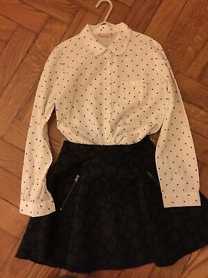 Bonpoint Outfit Skirt And Shirt