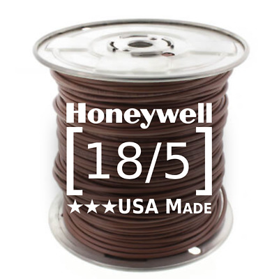 Thermostat Wire 18/5 • 250' Roll • 18 Gauge 5 Conductor • Honeywell (TW-18/5)