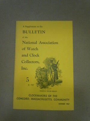 NAWCC Bulletin Supplement #5:  Concord Clockmakers