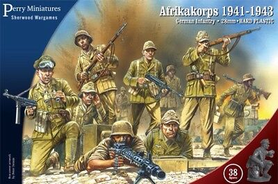 28mm WWII German Afrika Korps Infantry, Perry Miniatures, Bolt Action BNIB