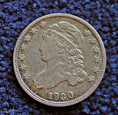 1830 Capped Bust Dime, nice coin, no problems, with pretty toning