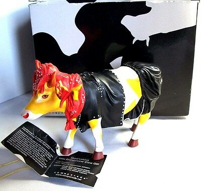Cow Parade 'Moo'velous Miss Rhinestone Cowgirl' Retired Figurine By Westland