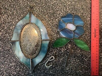 Stained Glass, Sun Catcher, Flower, Blue