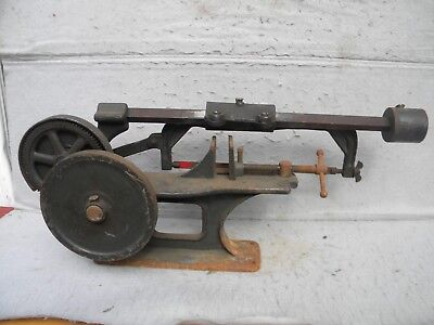 VINTAGE CAST IRON BENCHTOP POWERED HACKSAW or CUTOFF SAW-uses regular blades!