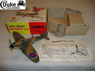 DINKY 719 BATTLE OF BRITAIN SPITFIRE MK II -  EXCELLENT in original BOX