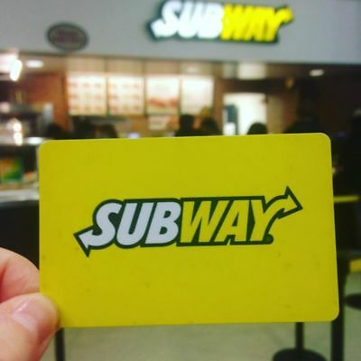 Subway gift card 25$ for 24$ (CANADA) - Not available in Quebec