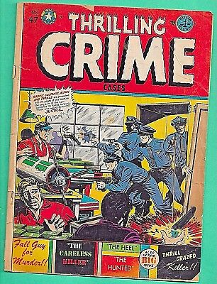 Thrilling Crime #47 Star 3.0 Golden Age 1951 Used POP L B Cole Cover Police Gun