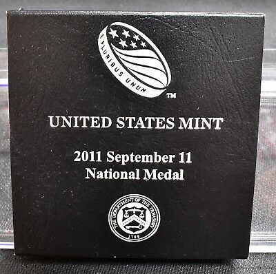 2011 9/11 National 1 oz Silver Medal, US Mint - With Box