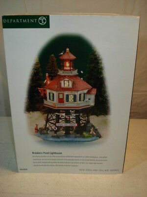Dept 56 New England Village Series Breakers Point Lighthouse #56.56636